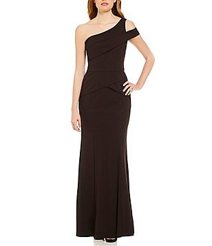 Cachet One Shoulder Peplum Bodice Gown