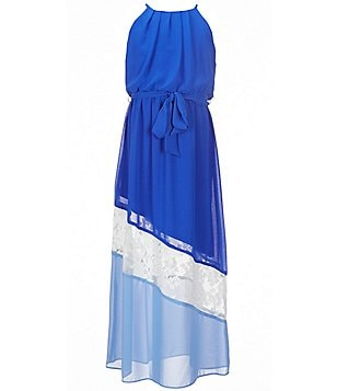 I.N. Girl Big Girls 7-16 Pleated Colorblock Maxi Dress