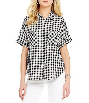 Levi´s® Holly Short-Sleeve Gingham Twill Button-Front Shirt