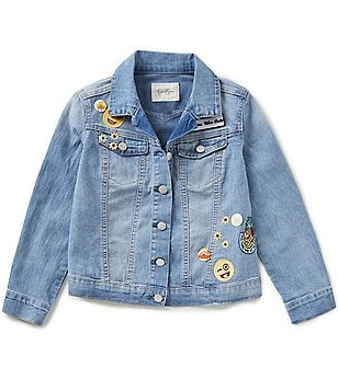 Jessica Simpson Big Girls 7-16 Mini Peri Patched Jean Jacket