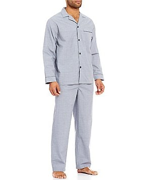 Roundtree & Yorke Long-Sleeve Plaid Pajama Set