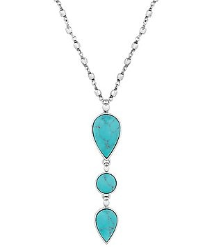Lucky Brand Turquoise Stack Pendant Necklace