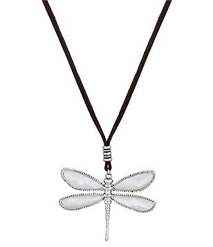 Lucky Brand Reversible Mother-of-Pearl & Abalone Dragonfly Pendant Necklace