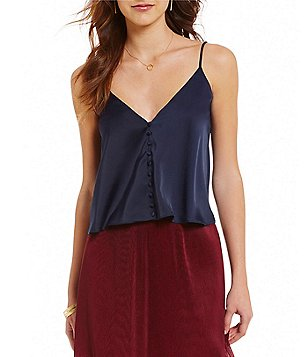 Lucy Paris Button Front Sateen Cami