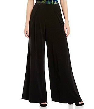 Gibson & Latimer Elastic Waist Pleated Solid Goucho Pant