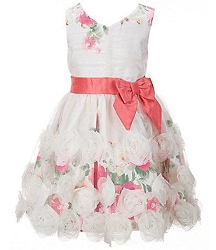 Zunie Little Girls 2T-6X Sleeveless Floral Soutache Dress