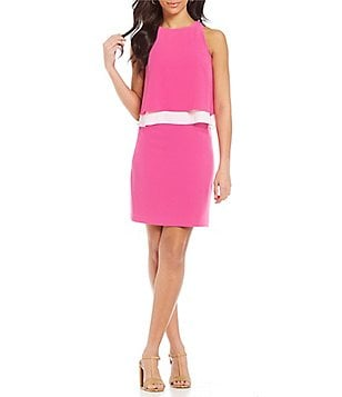 Cremieux Kendall Crepe Popover Dress