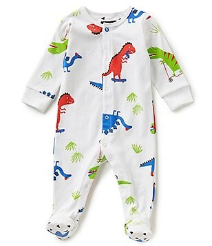Joules Baby Boys Newborn-9 Months Ziggy Dinosaur-Printed Footed Coverall