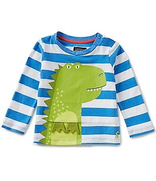 Joules Baby/Little Boys 12 Months-3T Bounce Dinosaur Striped Long-Sleeve Tee