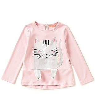 Joules Baby/Little Girls 12 Months-3T Catrin Cat-Graphic Top