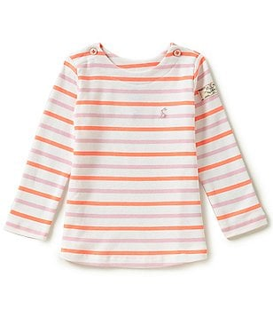 Joules Baby/Little Girls 12 Months-3T Harbour Luxe Striped Long-Sleeve Top