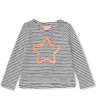 Joules Little Girls 3-6 Cora Striped Star Embellished Top