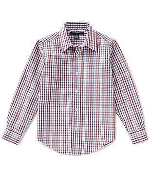 Brooks Brothers Little/Big Boys 4-20 Non-Iron Multi-Check Broadcloth Long-Sleeve Button-Down Shirt