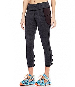 Jadelynn Brooke Bow Back Waistband Pocket Cropped Leggings
