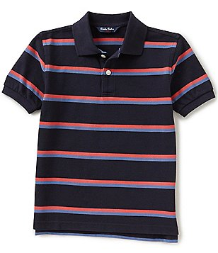 Brooks Brothers Little/Big Boys 4-20 Double-Stripe Pique Short-Sleeve Polo Shirt