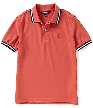 Brooks Brothers Little/Big Boys 4-20 Short-Sleeve Novelty-Tipped Solid Pique Polo Shirt