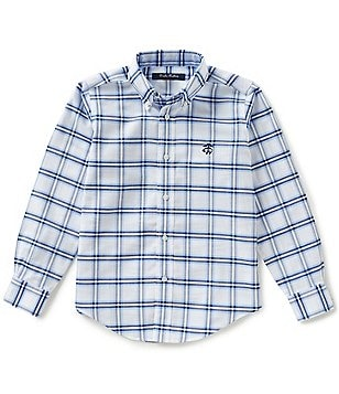 Brooks Brothers Little/Boys 4-20 Non-Iron Plaid Oxford Button-Down Shirt