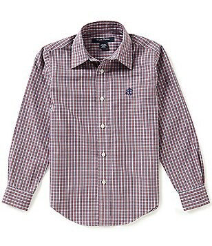 Brooks Brothers Little/Big Boys 4-20 Non-Iron Checked Long-Sleeve Button-Front Shirt