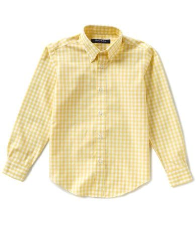 Brooks brothers little boys 4 20 non iron gingham button for Brooks brothers non iron shirt review