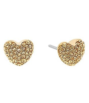 Michael Kors Pavé Puffy Heart Stud Earrings
