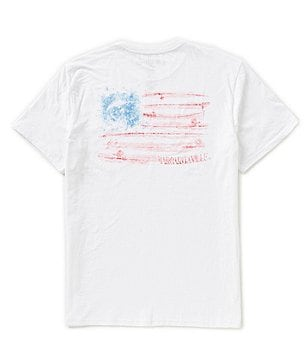 Margaritaville Short-Sleeve Fish Flag Graphic Pocket Tee