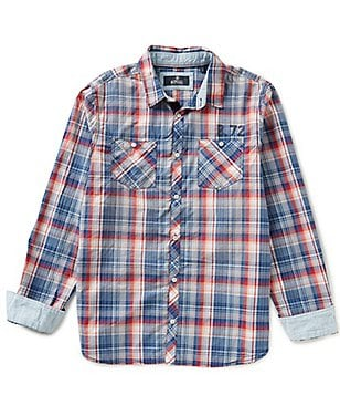 Buffalo David Bitton Siwars Long-Sleeve Plaid Oxford Shirt