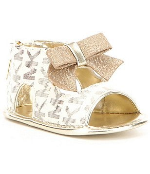MICHAEL Michael Kors Girl´s Baby Brook MK Print Bow Crib Shoe Sandal
