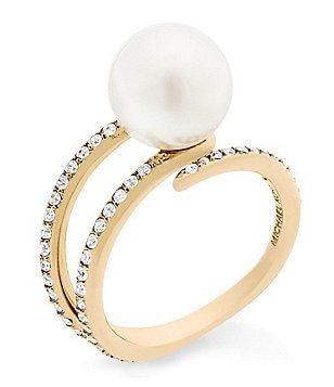 Michael Kors Classic Modern Faux-Pearl Ring