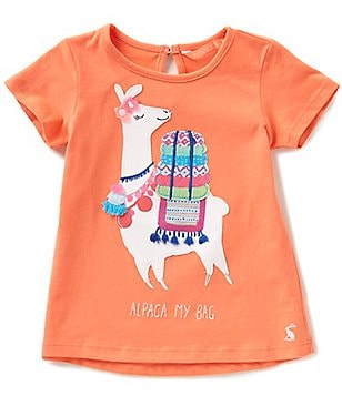 Joules Baby/Little Girls 12 Months-3T Maggie Alpaca Appliqué Short-Sleeve Top