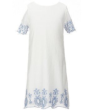 Jessica Simpson Big Girls 7-16 Nalla Embroidered-Hem Dress