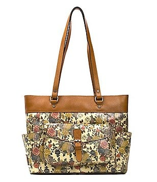 Patricia Nash Denim Fields Collection Bolsena Floral Tote