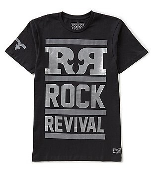 Rock Revival Reflective and Foil Rock Revival Banner Tee