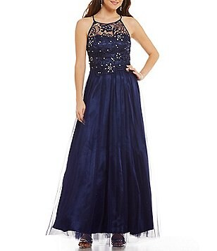 Masquerade Stone Embellished Lace Bodice Ball Gown
