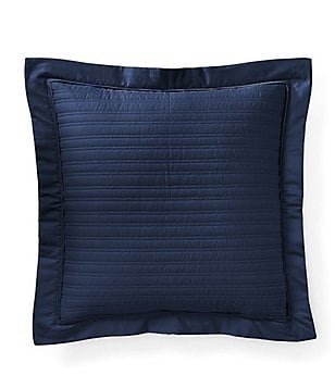 Ralph Lauren Reed Quilted Sateen Square Feather Pillow