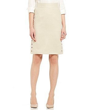 Antonio Melani Jamilla Basketweave Pencil Skirt