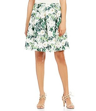 Antonio Melani Lila Floral Printed Novelty Skirt