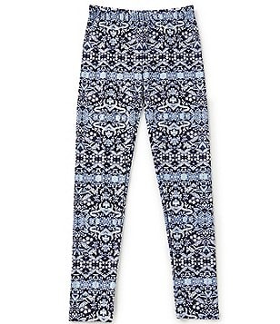 GB Girls Little Girls 4-6X Striped Mixed-Print Leggings