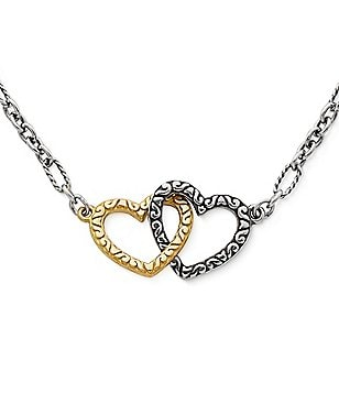 James Avery Hearts Together 14K Gold & Sterling Silver Necklace