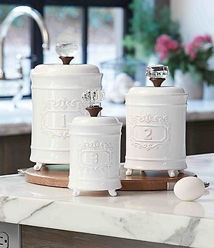 Mud Pie Circa Vintage Doorknob Canisters, Set of 3