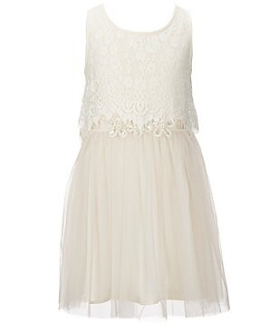 Hannah Banana Black Label Big Girls 7-16 Lace-Tulle Dress