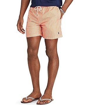 Polo Ralph Lauren Big & Tall Gingham Traveler Swim Trunks