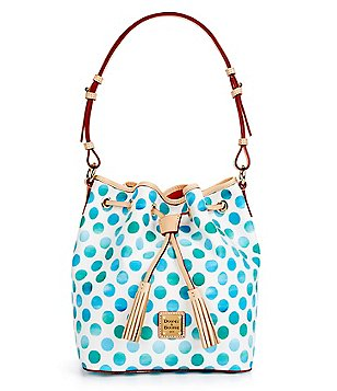 Dooney & Bourke Dots Collection Kendall Tasseled Drawstring Bag