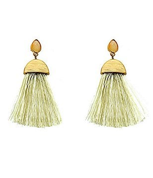 Panacea Silk Tassel Drop Earrings
