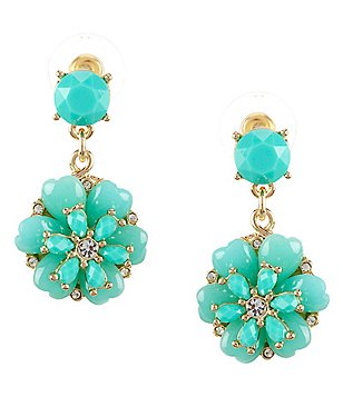 Anna & Ava Stacked Flower Drop Earrings
