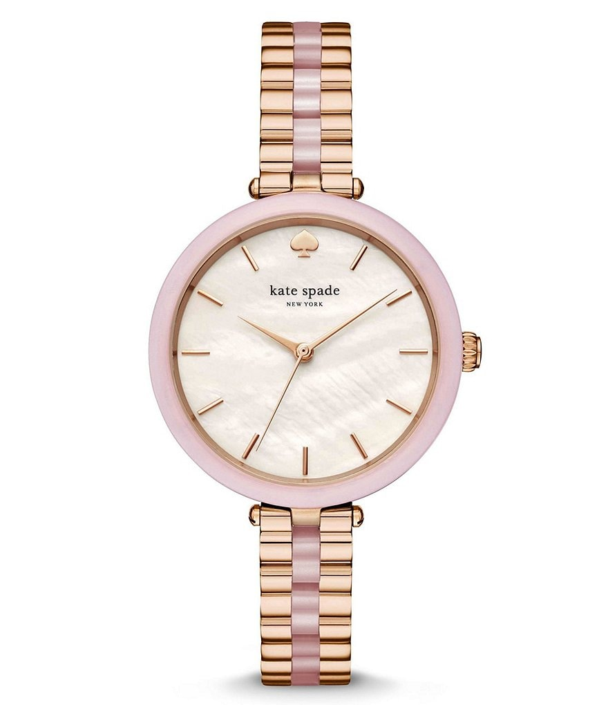 kate spade new york Holland Mother-of-Pearl Analog Bracelet Watch