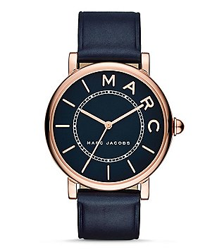 Marc Jacobs Roxy Analog Leather Strap Watch