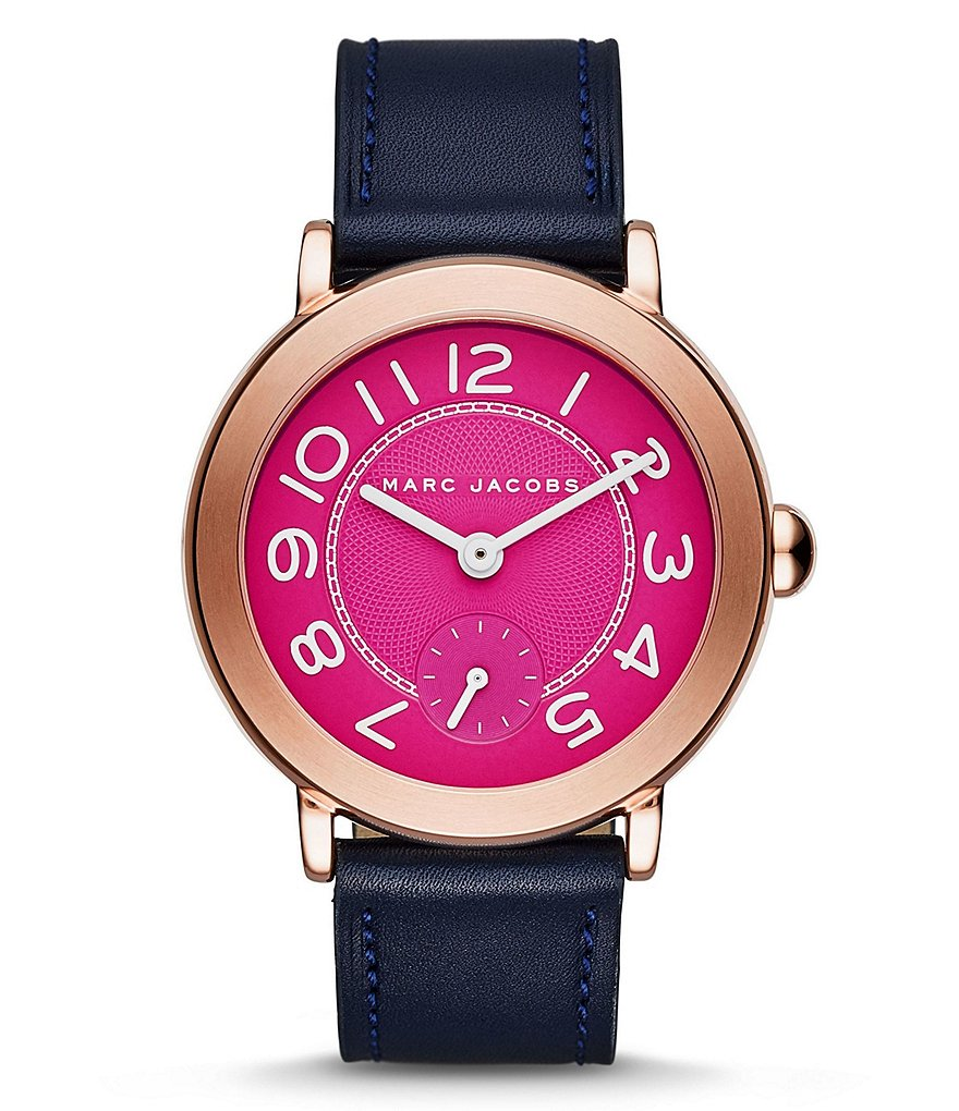 Marc Jacobs Riley Analog Leather-Strap Watch