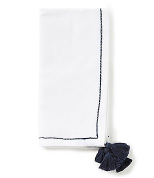 Southern Living Cabo Tori Tasseled Embroidered Napkin