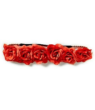 GB Girls Braided Floral-Appliqué Headwrap