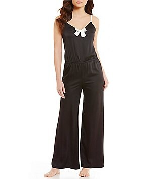 kate spade new york Bow Satin Lounge Jumpsuit
